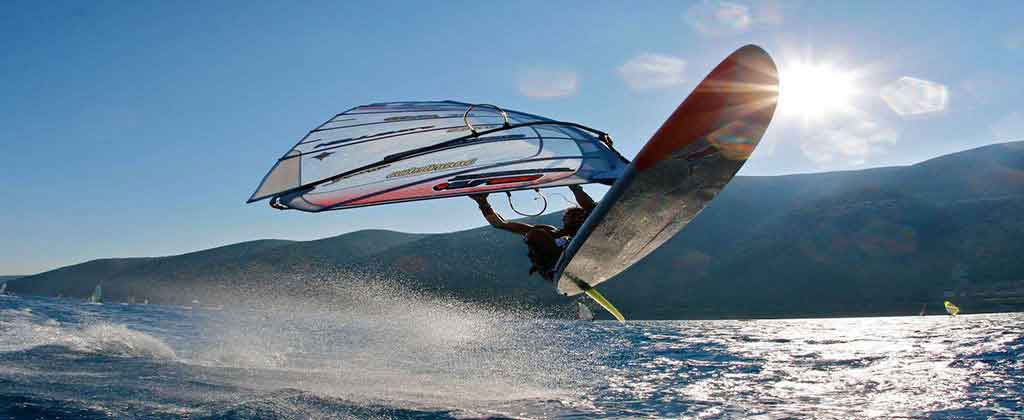 "Windsurfing in Aegean!""If you're having a bad day, catch a wave."""