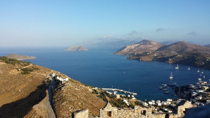 View from the castle in Leros island
