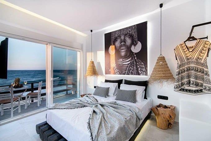 роскошные люксы на берегу моря на острове Наксос