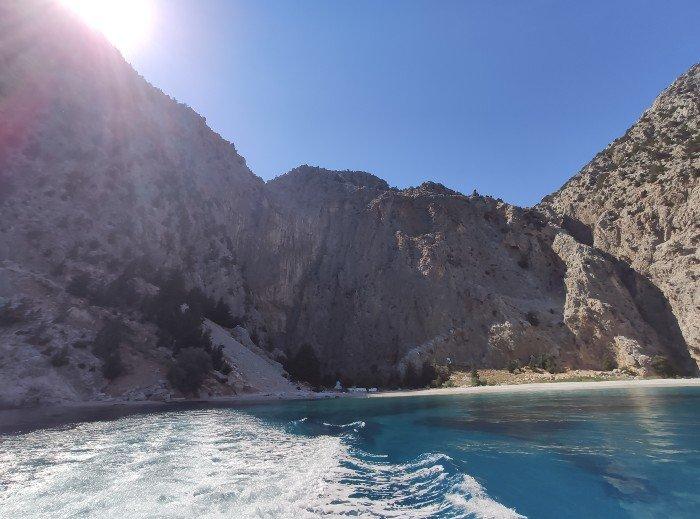 Agios Georgios beach Symi island greece