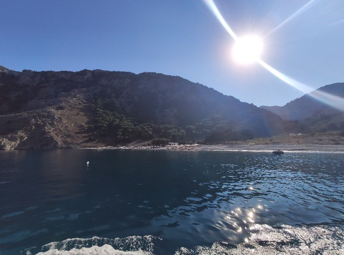 Nanou beach Symi Greece