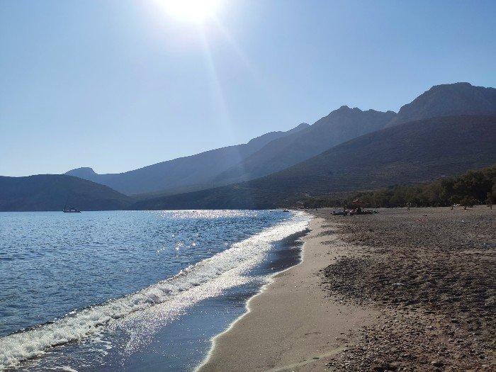 Eristos beach Tilos island
