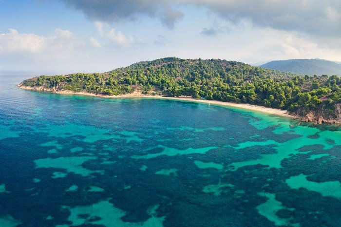 Agia Eleni beach Skiathos island