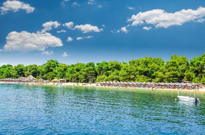 Koukounaries beach Skiathos island