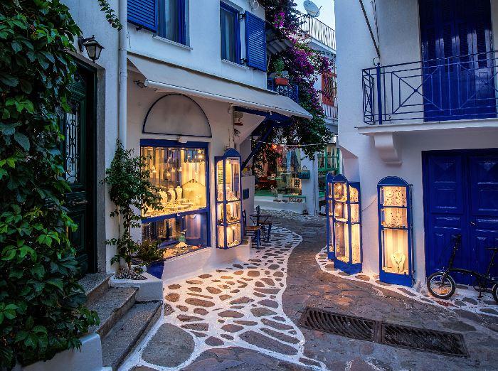 Skiathos town Sporades