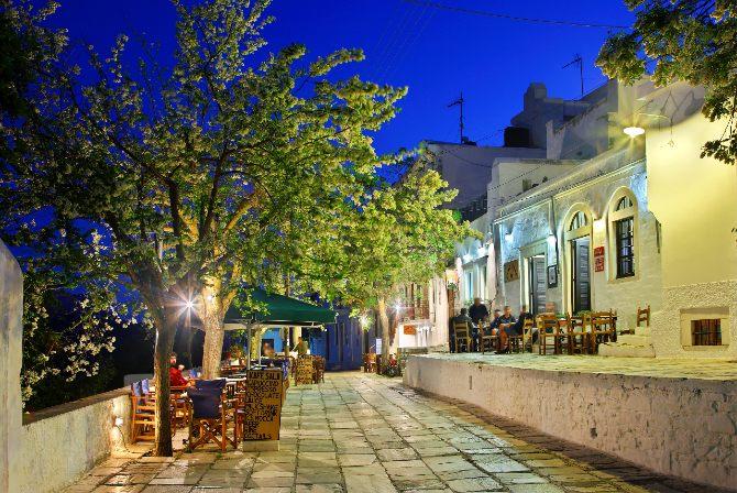 Apeiranthos village Naxos island