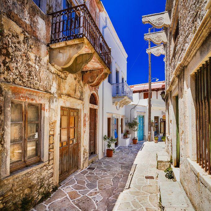 Halki vilages in Naxos greek island