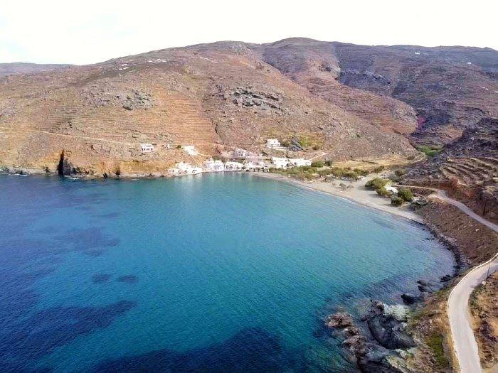 Rohari beach tinos island