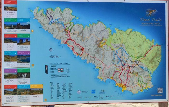 Tinos Hiking Map